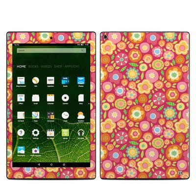 Amazon Kindle Fire HD10 2015 Skin - Flowers Squished