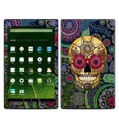 Amazon Kindle Fire HD10 2015 Skin - Sugar Skull Paisley