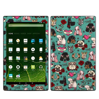 Amazon Kindle Fire HD10 2015 Skin - Tattoo Dogs