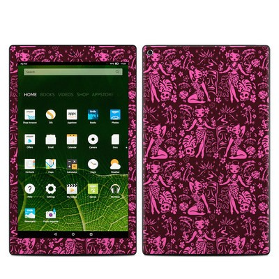Amazon Kindle Fire HD10 2015 Skin - Tiki Temptress Hotpink