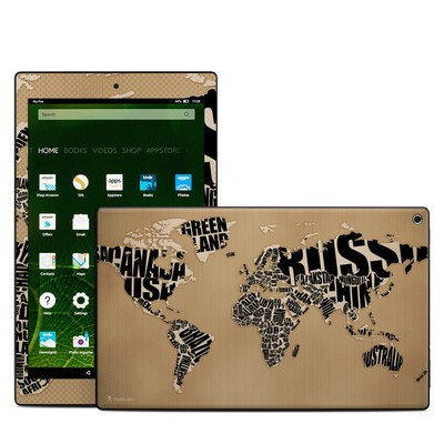 Amazon Kindle Fire HD10 2015 Skin - Type Map