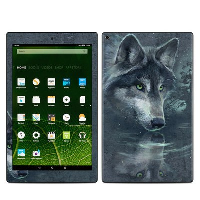 Amazon Kindle Fire HD10 2015 Skin - Wolf Reflection