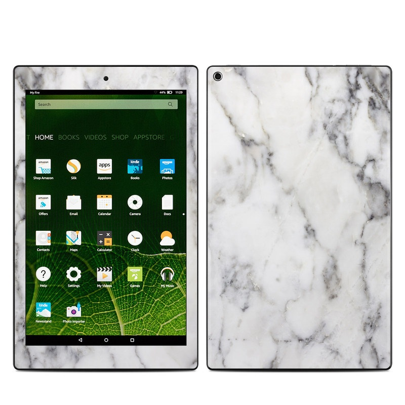 Amazon Kindle Fire Hd10 2015 Skin White Marble By Marble