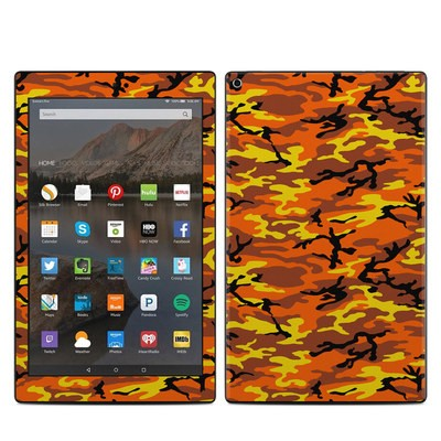 Amazon Kindle Fire HD10 2017 Skin - Orange Camo