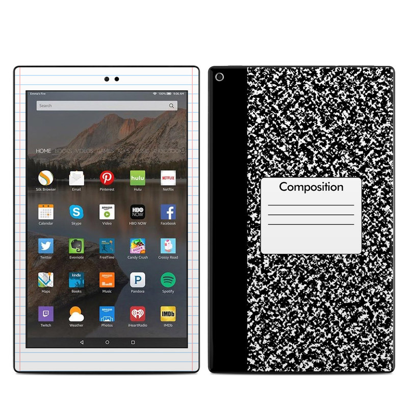 Amazon Kindle Fire HD10 2017 Skin - Composition Notebook