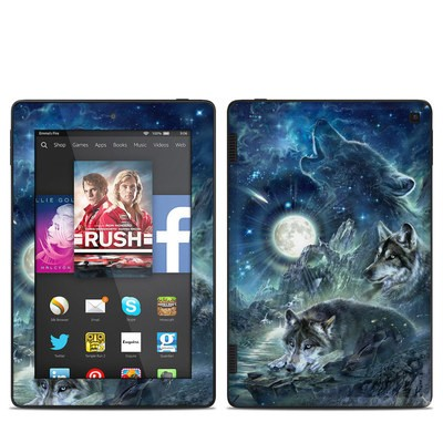 Amazon Kindle Fire HD 7in 2014 Skin - Bark At The Moon