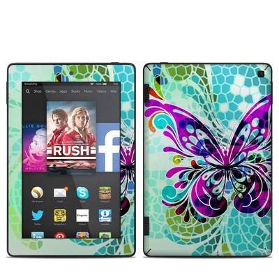 Amazon Kindle Fire HD 7in 2014 Skin - Butterfly Glass