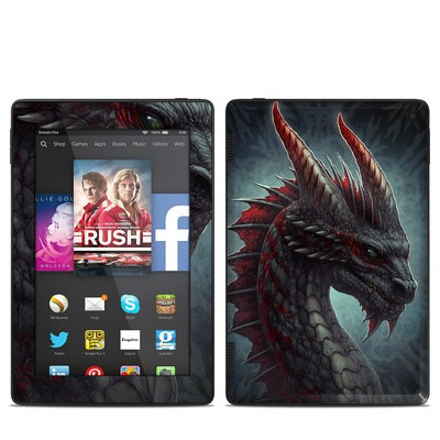 Amazon Kindle Fire HD 7in 2014 Skin - Black Dragon