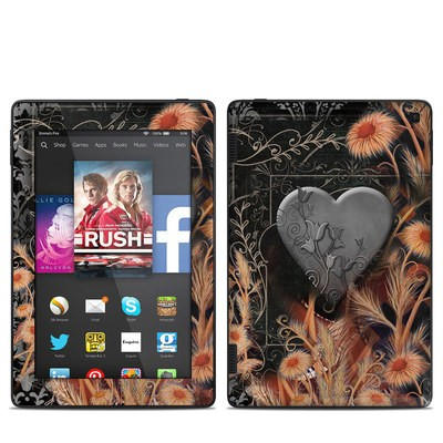 Amazon Kindle Fire HD 7in 2014 Skin - Black Lace Flower