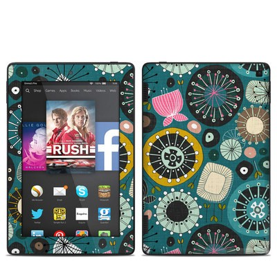 Amazon Kindle Fire HD 7in 2014 Skin - Blooms Teal