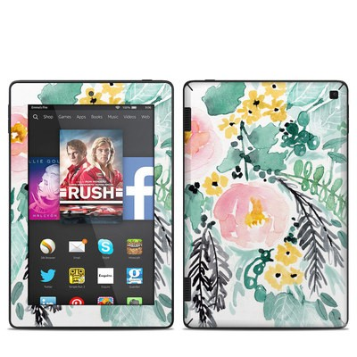 Amazon Kindle Fire HD 7in 2014 Skin - Blushed Flowers
