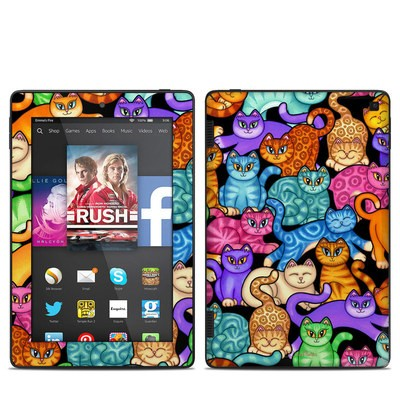 Amazon Kindle Fire HD 7in 2014 Skin - Colorful Kittens