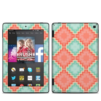 Amazon Kindle Fire HD 7in 2014 Skin - Coral Diamond