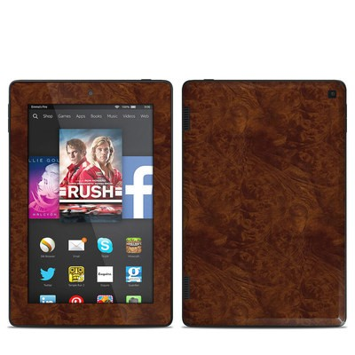 Amazon Kindle Fire HD 7in 2014 Skin - Dark Burlwood
