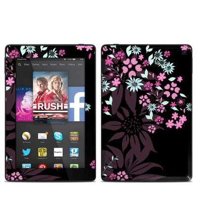 Amazon Kindle Fire HD 7in 2014 Skin - Dark Flowers