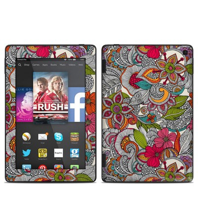 Amazon Kindle Fire HD 7in 2014 Skin - Doodles Color