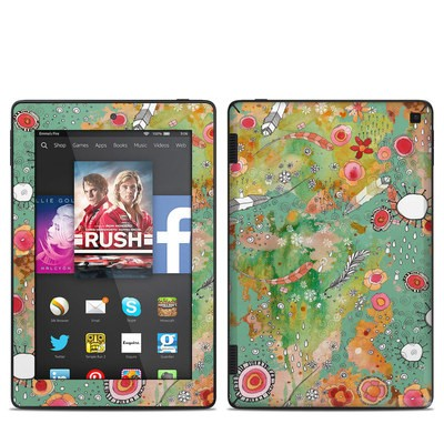 Amazon Kindle Fire HD 7in 2014 Skin - Feathers Flowers Showers