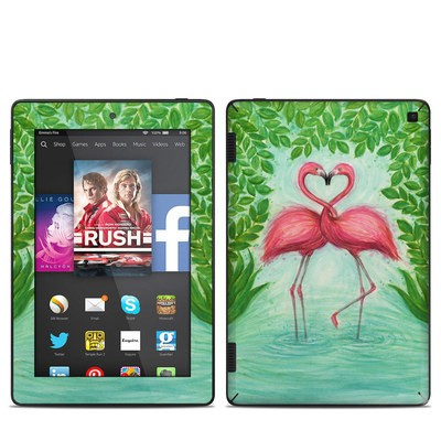 Amazon Kindle Fire HD 7in 2014 Skin - Flamingo Love