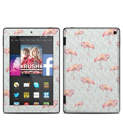 Amazon Kindle Fire HD 7in 2014 Skin - Flamingo Mosaic