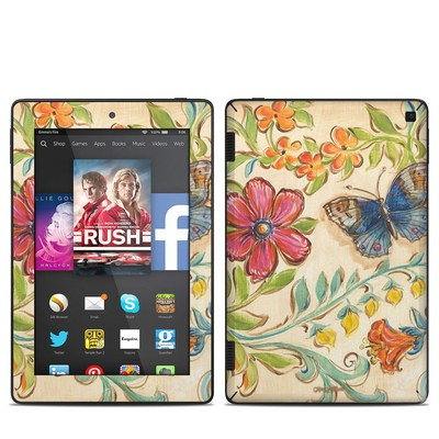 Amazon Kindle Fire HD 7in 2014 Skin - Garden Scroll