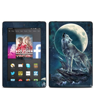Amazon Kindle Fire HD 7in 2014 Skin - Howling Moon Soloist