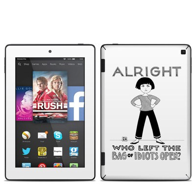 Amazon Kindle Fire HD 7in 2014 Skin - Bag of Idiots