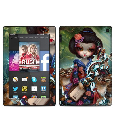 Amazon Kindle Fire HD 7in 2014 Skin - Kirin and Bakeneko