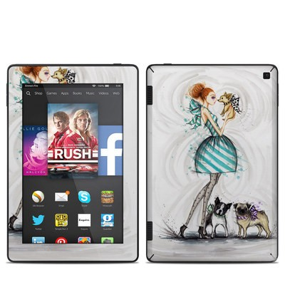 Amazon Kindle Fire HD 7in 2014 Skin - A Kiss for Dot