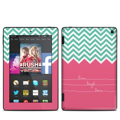 Amazon Kindle Fire HD 7in 2014 Skin - Live Laugh Love