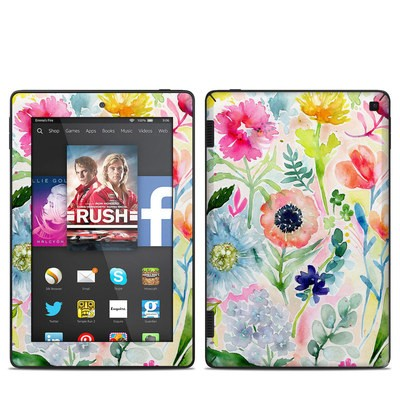 Amazon Kindle Fire HD 7in 2014 Skin - Loose Flowers
