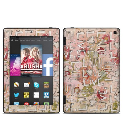 Amazon Kindle Fire HD 7in 2014 Skin - Love Floral