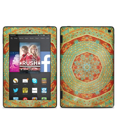 Amazon Kindle Fire HD 7in 2014 Skin - Mandala Citrus