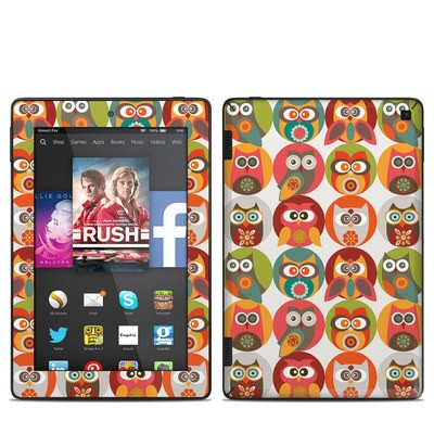 Amazon Kindle Fire HD 7in 2014 Skin - Owls Family