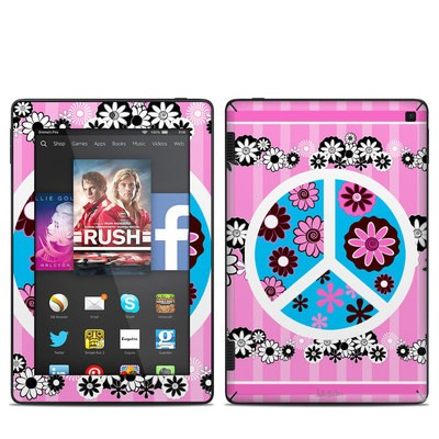 Amazon Kindle Fire HD 7in 2014 Skin - Peace Flowers Pink