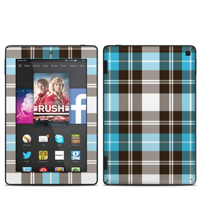 Amazon Kindle Fire HD 7in 2014 Skin - Turquoise Plaid