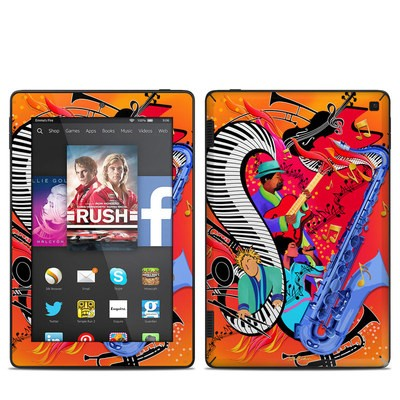 Amazon Kindle Fire HD 7in 2014 Skin - Red Hot Jazz