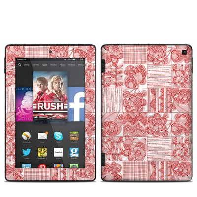 Amazon Kindle Fire HD 7in 2014 Skin - Red Quilt