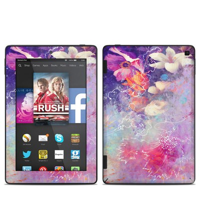 Amazon Kindle Fire HD 7in 2014 Skin - Sketch Flowers Lily