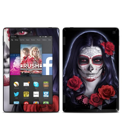 Amazon Kindle Fire HD 7in 2014 Skin - Sugar Skull Rose