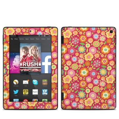 Amazon Kindle Fire HD 7in 2014 Skin - Flowers Squished