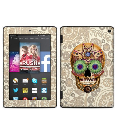 Amazon Kindle Fire HD 7in 2014 Skin - Sugar Skull Bone