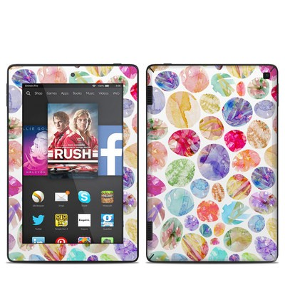 Amazon Kindle Fire HD 7in 2014 Skin - Watercolor Dots