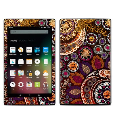 Amazon Kindle Fire HD8 2015 Skin - Autumn Mehndi