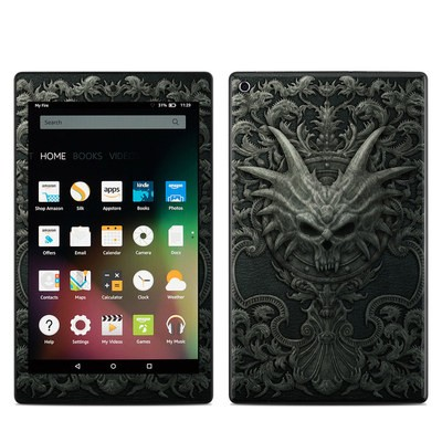 Amazon Kindle Fire HD8 2015 Skin - Black Book
