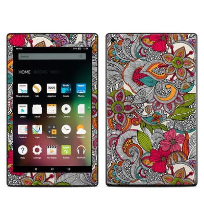 Amazon Kindle Fire HD8 2015 Skin - Doodles Color