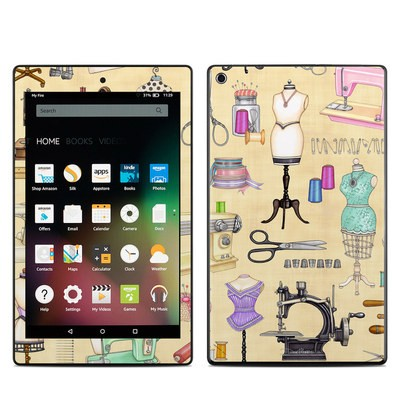 Amazon Kindle Fire HD8 2015 Skin - Haberdashery