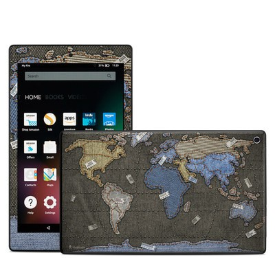 Amazon Kindle Fire HD8 2015 Skin - Jean Map