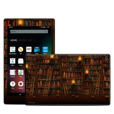 Amazon Kindle Fire HD8 2015 Skin - Library
