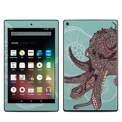 Amazon Kindle Fire HD8 2015 Skin - Octopus Bloom