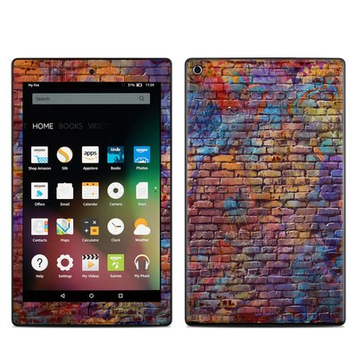 Amazon Kindle Fire HD8 2015 Skin - Painted Brick